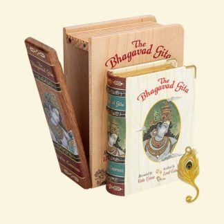 The Bhagavad Gita - Wooden Boxed Edition A7 Size Book